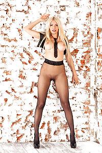 Reby posing in pantyhose